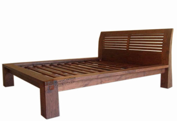 Solid Teak Wood Bed Frame Bali Classic Antique Bedrooms Furniture