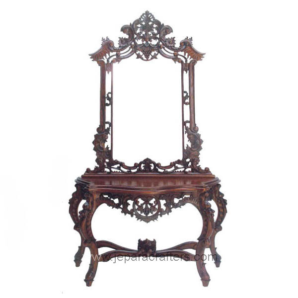 French style bedroom dressing table mirror stool solid