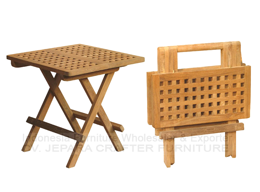 Square picnic tables and chairs from indonesia furniture for Octagon coffee table plans