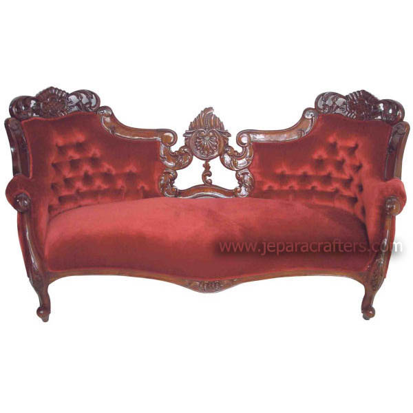 Mahogany heavy carved sofas double ended direct indonesia for Sofa jakarta
