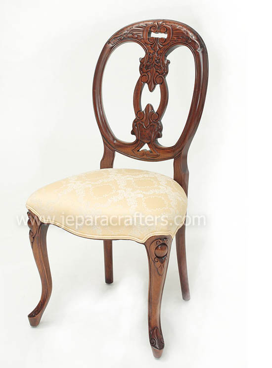 Mahogany Viola Carver Dinner Chairs MH CH020