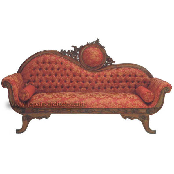 Luxurious Victorian Furniture Mahogany Sofa Three Seat