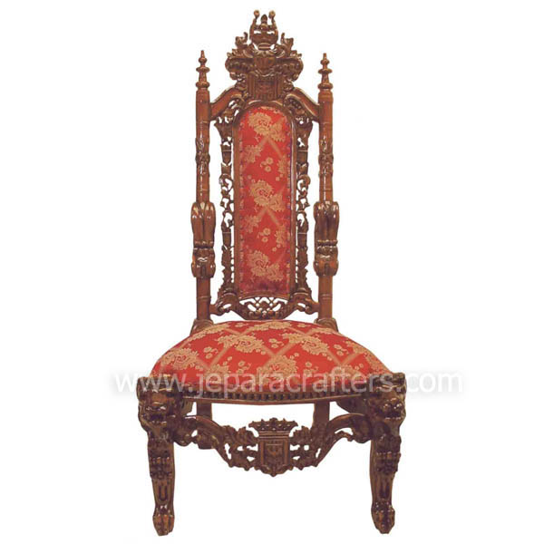 Mahogany Lion King Chairs Carved MH CH024