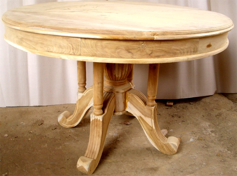 Cheap Indonesia Teak Indoor Furniture Dining Tables Direct Manufacture - Indonesian teak dining table