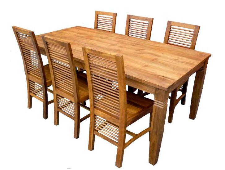 Design Minimalist Teak Indoor Furniture Table And Chairs Indonesia
