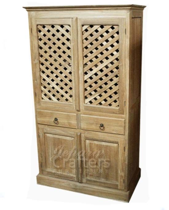 Teak Wood Bedroom Wardrobe Armoire Wood Furniture