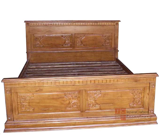 Traditional Furniture Manufacturers: Indonesia Traditional Bedroom Furniture Carving Majapahit Beds