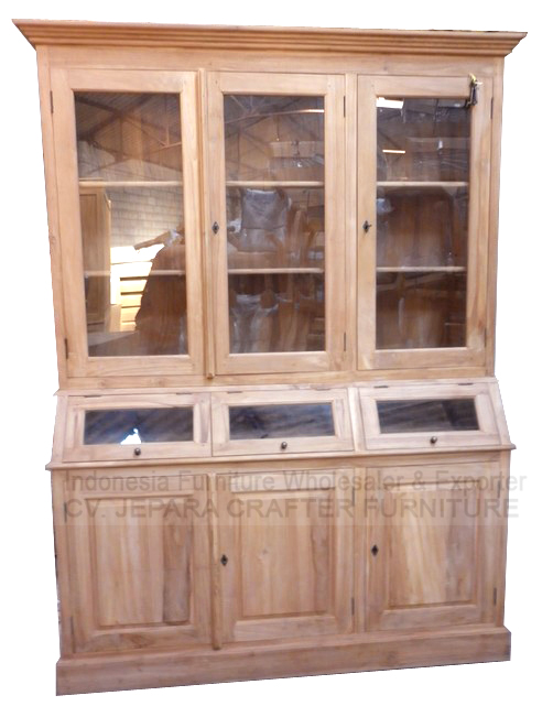 Antique Wooden Cabinets With Glass Doors Indonesia