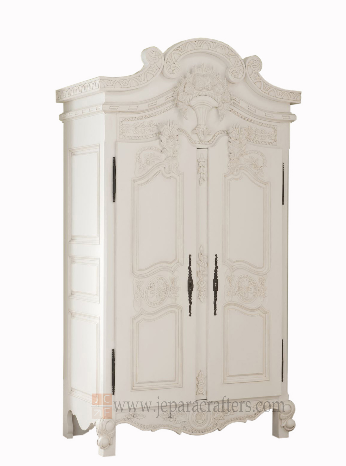 Exceptionnel Romeesa Armoire 2 Doors Hard Carved FS AW007