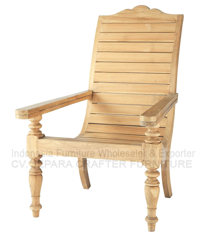 Solid Teak Wood Lazy Relax Chairs Indonesia Furniture