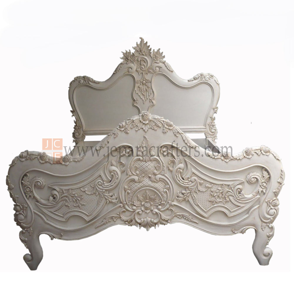 French baroque furniture - Hard Carved Baroque Louis Beds Fs B003