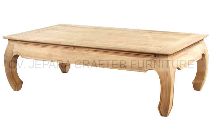 Solid Teak Wood Coffee Tables Base Opium Indonesia Furniture