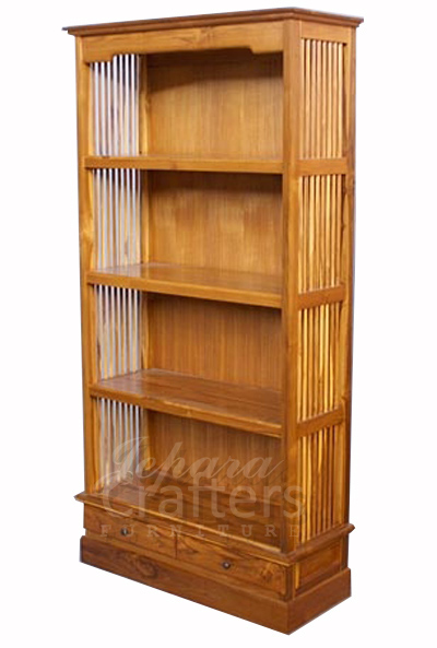 solid teak wood bookshelves indonesian furniture