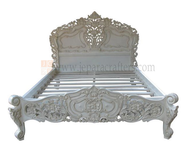 Fabulous Rococo Bedroom Beds French Furniture Style White Painted Best Image Libraries Sapebelowcountryjoecom