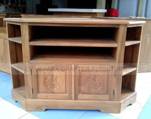 Corner Buffet TV Tables Stand Carving Doors