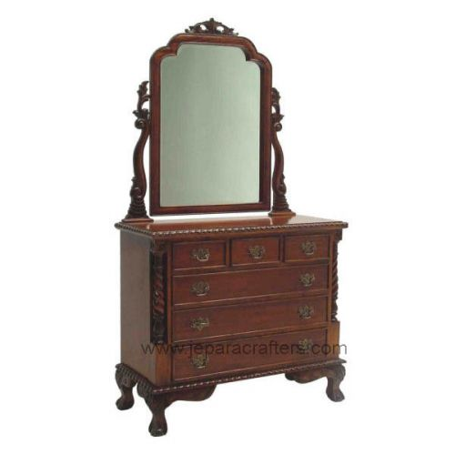 Victorian Dressing Table 6 Drawers Small MH-DM003