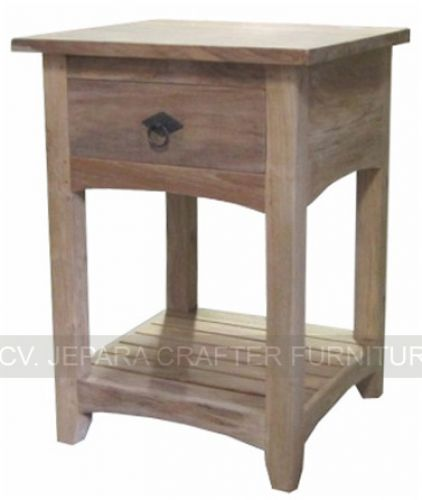 Bedside Table Nightstand Tables With Shelf Teak Wood