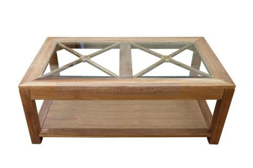 SILANG COFFEE TABLE WITH GLASS