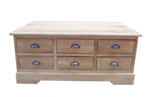 COFFEE TABLE WITH STORAGE  12 DRAWERS