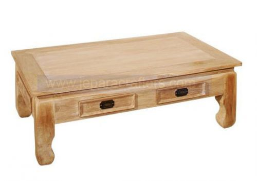 COFFEE TABLE 2 DRAWER3 CURVE LEGS