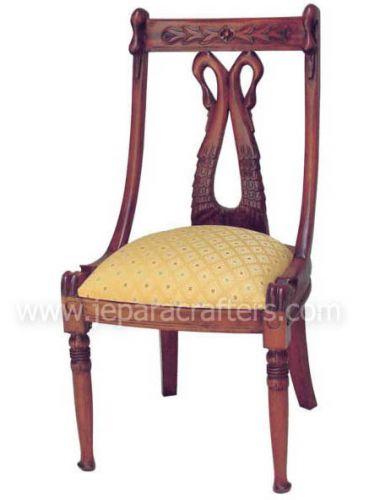 Mahogany Carved Back Swan Chairs MH-CH022