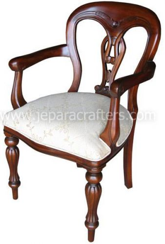 Mahogany Fiddleback Armchairs MH-CH013