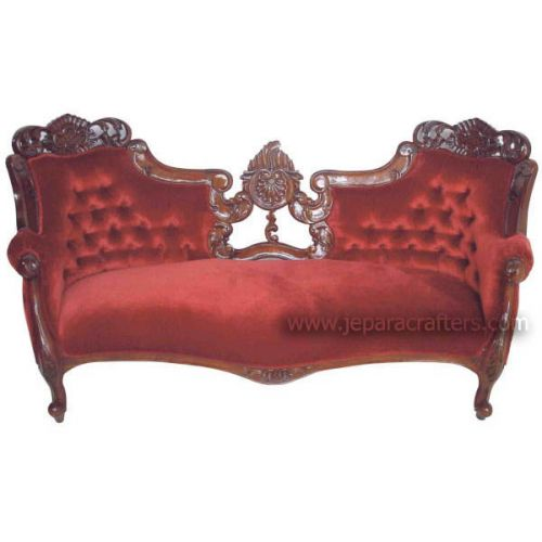 Mahogany Heavy Carved Double Ended Sofa MH-SF008