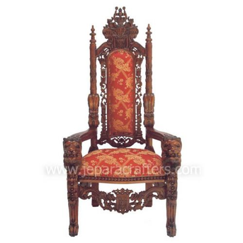 Mahogany Lion King Armchairs Carved MH-CH023
