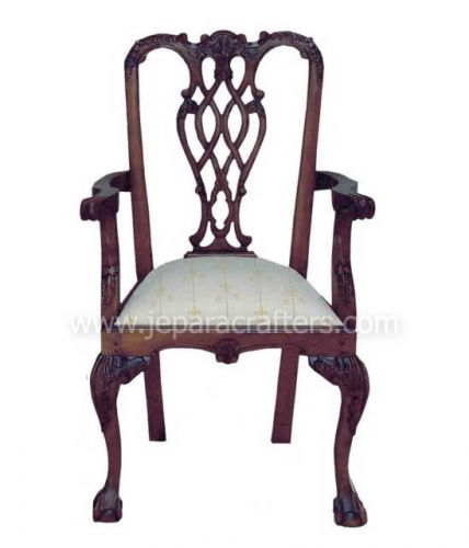 Mahogany Stuart Chippendale Armchairs  MH-CH011