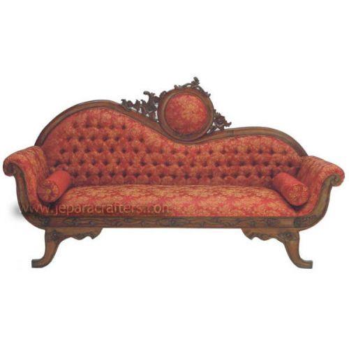Mahogany Victorian Sofa Loveseat