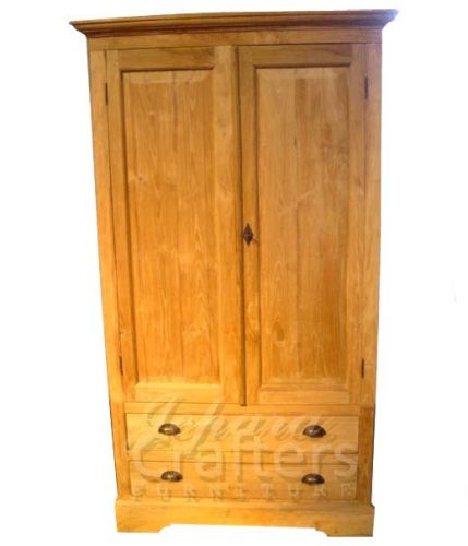 Wardrobe Armoire Made From Solid Teak Wood For Bedroom Furniture