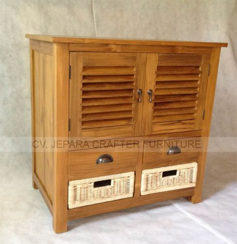Sideboard Table Rattan Drawers