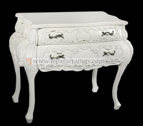Baroque Carved Cabinet 2 Drawers FS-CDS009