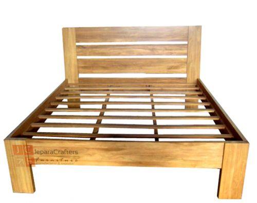 Simple Bed Frame Minimalist Teak Wood Indonesia Wholesale