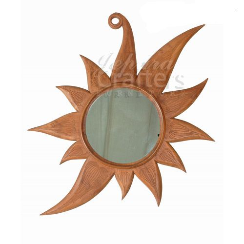 Teak Carving Mirror TIMR016