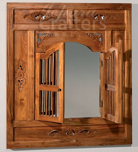 Teak Carving Mirror TIMR020