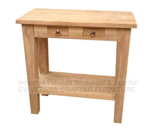 TEAK CONSOLE 2 SMALL DRAWERS JFWCT-027