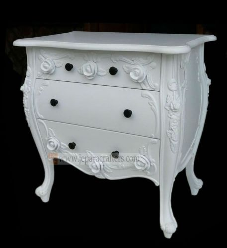 Rose Carved Bombay Nightstand Table FS-NSB009