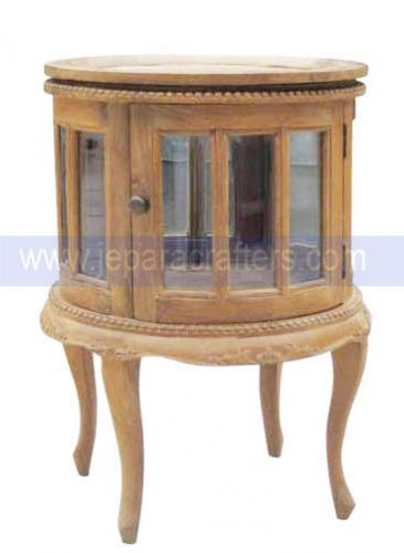 Round Tea Table End With Storage From Teak Wood Furniture